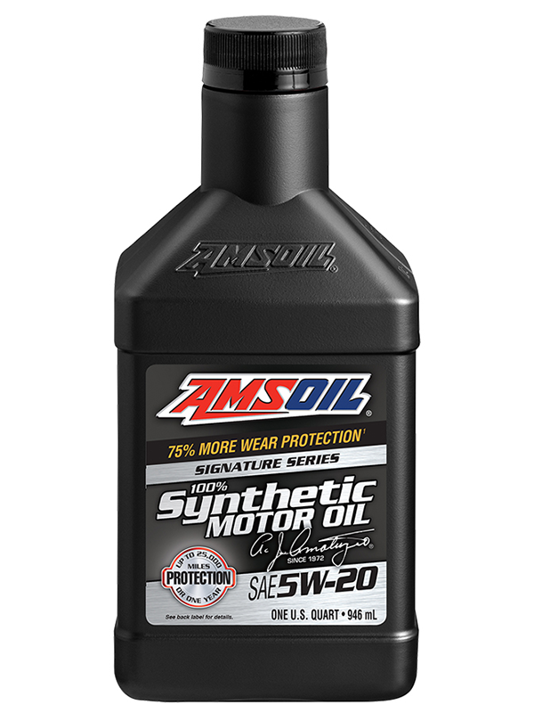 amsoil sae 5w 20 signature series 100 synthetic motor oil