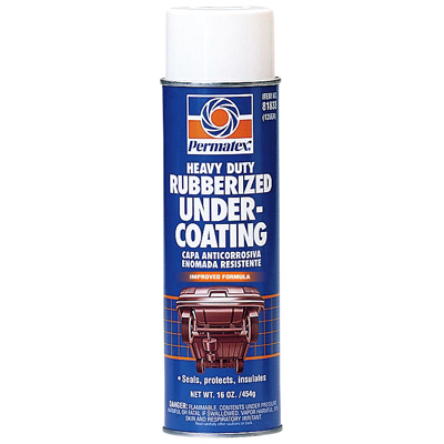 Permatex heavy duty rubberized undercoating complete for Undercoating with used motor oil