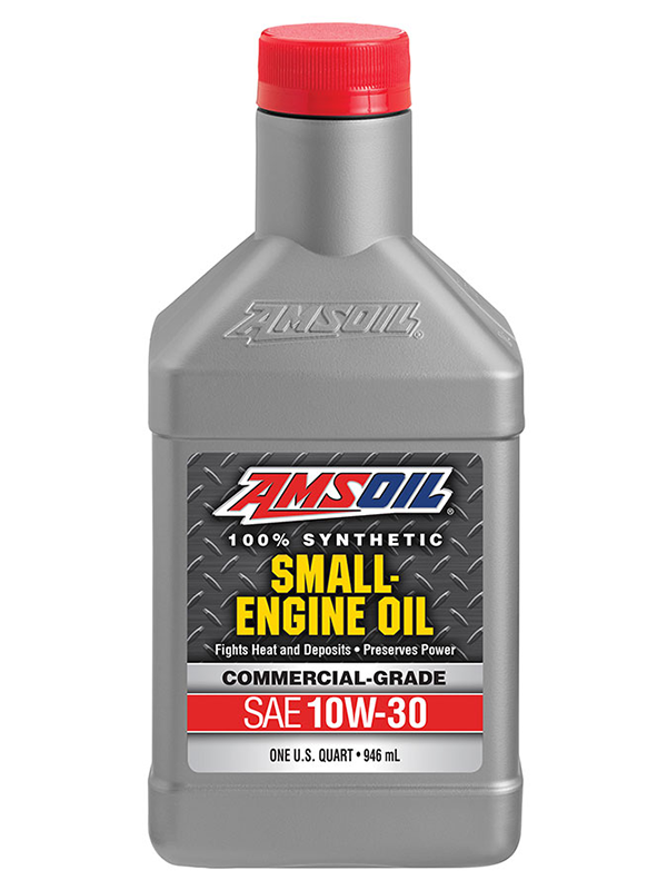 Amsoil 10w 30 synthetic small engine oil complete auto for Best motor oil for lawn mowers