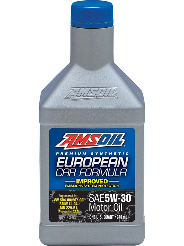 Amsoil european car formula 5w 30 synthetic motor oil for How often to change synthetic blend motor oil