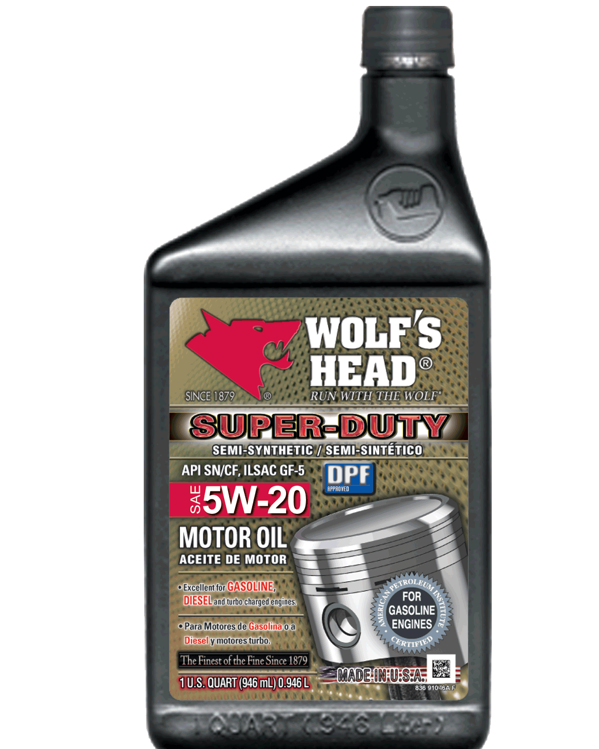 Wolf 39 S Head Super Duty 5w 20 Oil Complete Auto Parts And
